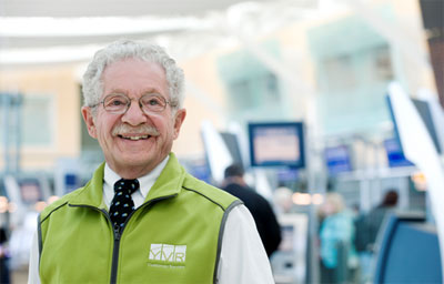 Vancouver Airport Green Coat Volunteers